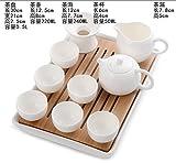 YUANLINGWEI Kung Fu Kaffee Set Reisen Portable Weiß Porzellan Tee Set Keramik Teekanne Teetasse. T