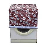 #10: Dream Care Floral Brown Colored waterproof and dustproof washing machine cover for Bosch WAB16060IN 6Kg Fully-Automatic Front Loading Washing Machine