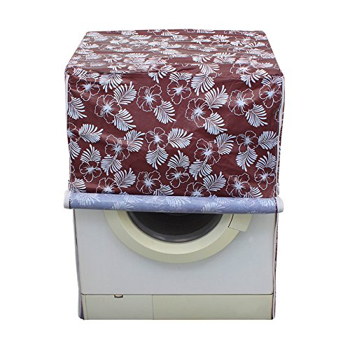 Glassiano Floral Brown Colored waterproof and dustproof washing machine cover for IFB Senorita Aqua SX 6.5Kg Fully-Automatic Front Loading Washing Machine  available at amazon for Rs.399