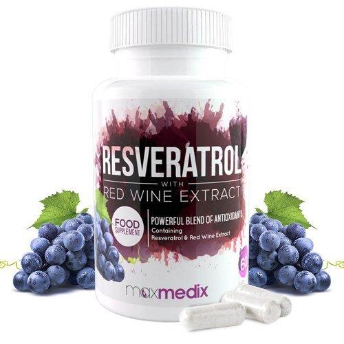Resveratrol™ 500mg | 100% Rotwein-Extrakt | Zum Abnehmen | Bei Heißhungerattacken | Regt Stoffwechsel an | 100% natürliche Inhaltsstoffe