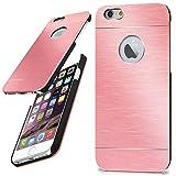 moex iPhone 6S | Hülle Dünn Rosé-Gold Aluminium Back-Cover Schutz Handytasche Ultra-Slim Handy-Hülle für iPhone 6/6S Case Metall Schutzhülle Alu Hard-Case