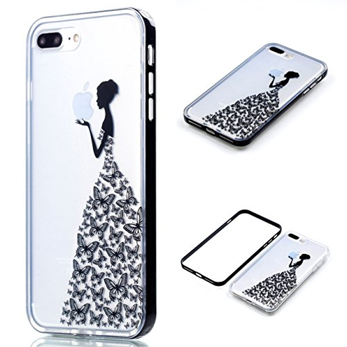 Apple iPhone 8 Plus 5.5 Hülle, Voguecase Schutzhülle / Case / Cover / Hülle / 2 in 1 TPU Gel Skin (Elefanten 06) + Gratis Universal Eingabestift Lady 06