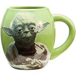 Star Wars Yoda - Taza oval de cerámica en paquete regalo 11 cm (500 ml)