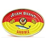 Ayam Brand Sardine in Tomato Sauce - 7.6oz - 213g (Pack of 3)