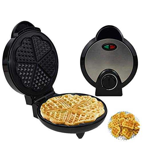 Jstyal968 Yalztc-zyq16 Waffeleisen, Sandwich-Toaster, 1200 Watt, Kinderfrühstück elektrische Backform, Waffeleisen