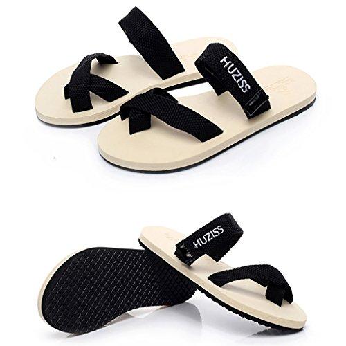 PENGFEI Mules Femme Summer Beach slippers flip-flops Lovers flip flop Antidérapant Leisure flat Cool slippers Confortable et respirant ( Couleur : B , taille : EU40/UK6.5/L:250mm ) A