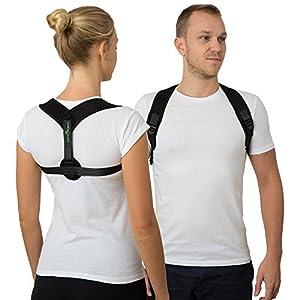 Geradehalter zur Haltungskorrektur für Frauen und Männer Haltungstrainer zur Unterstützung für den oberen Rücken gegen Nacken Schulterschmerzen Rückenbandage für Perfekte Haltung Rückenstabilisator