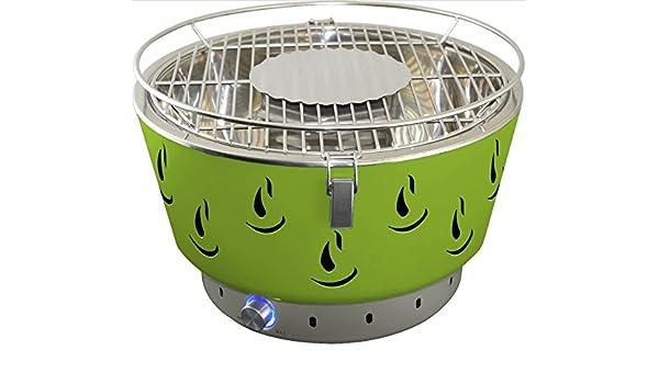 Activa Holzkohlegrill Mit Aktivbelüftung : Activa grill tischgrill airbroil junior grün amazon elektronik