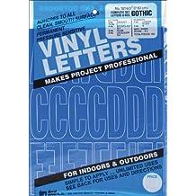 Graphic Productos Vinilo Adhesivo permanente letras y números (160/Pkg-Blue