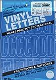 Graphic Produkte Vinyl Permanent Kleber Buchstaben und Zahlen 3Zoll 160/pkg-blue