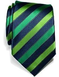 Corbata de microfibra a rayas tricolor para hombres de Retreez