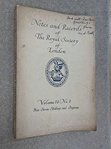 Notes and Records of the Royal Society of London Vol.14 No.1 1959