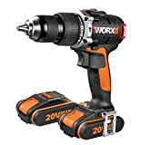 WORX CORDLESS BRUSHLESS COMBI DRILL 20V 373 BARE UNIT + CARRING CASE (takes all worx lithium batterys 1.5ah to 5.0ah