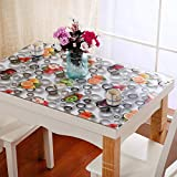 HXTABLECLOTH PVC Table Cloth Rectangulaire, Verre Soft Lisses Flore Imprimé Imperméable Couverture De Table Vinyle Cuisine Table Basse Protector-a 60x120cm(24x47inch)