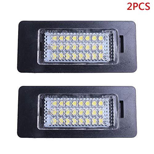 Refaxi 2 x 24 LED Fehlermeldung Nummernschild Nummernschildbeleuchtung für BMW E81 E82 E90 E91 E92 E93 E60 E61 E39 - Nummernschild änderung 2.