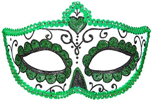 �Maske Dia de los Muertos, schwarz/grün, Einheitsgröße (Dia De Los Muertos-shop)