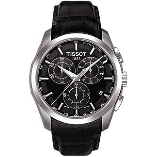 Tissot T0356171605100 – Reloj analógico de caballero de cuarzo con correa de piel negra