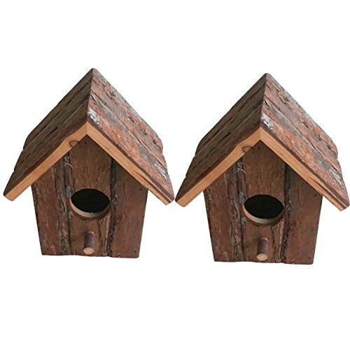 Heritage Madera Rústica 20832de casa de pájaros para pequeños pájaros como blaum Hierro, petirrojo, Gorriones