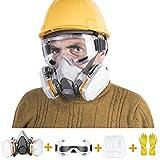 Atemschutzmaske Fabonka Schutz Halbmaske mit Schutzbrille und Handschuhen, Perfekt für Maler- und Heimwerkerprojekte