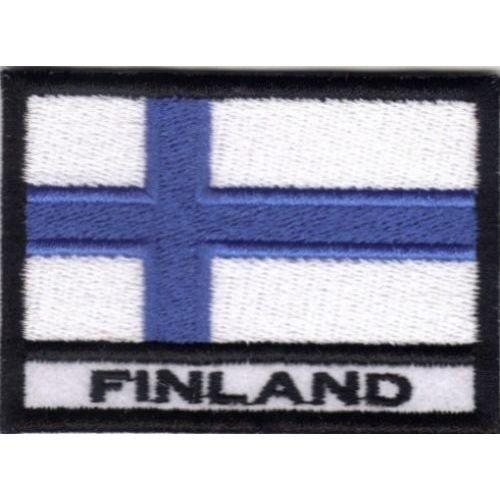 Patch Bandera FINLANDIA cm 7x 5Parche Bordado