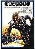 Pop Culture Graphics Los vikingos Póster de película 27 x 40 en alemán - 69 cm x 102 cm Kirk Douglas Ernest Borgnine Janet Leigh Tony Curtis James Knox Alexander Donald