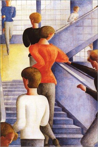 Posterlounge Acrylglasbild 80 x 120 cm: Bauhaustreppe von Oskar Schlemmer - Wandbild, Acryl...