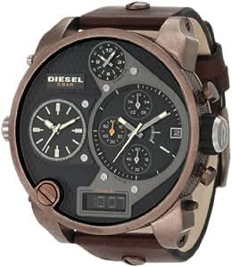DIESEL - DZ7246 - Chronographe - Montre Homme - Bracelet en cuir brun