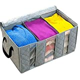 Easydex Fabric Foldable Portable Wardrobe Clopack Organizer Storage Bag Box for Sweater and Blanket