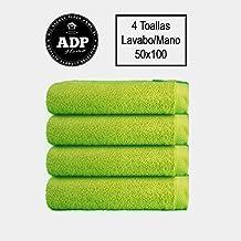 ADP Home - TOALLAS DE MANO/LAVABO CALIDAD DE 100% ALGODÓN PEINADO 550Grms PACK DE 4 UNIDADES, 50 x 100 cm, 4 toallas baño