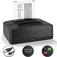 Caricabatteria doppio (USB) per Sony NP-BG1 FG1 / Cyber-shot DSC-H.. /HX../N../T.. /W../WX // HDR-GW55 ... vedi lista di compatibilità!