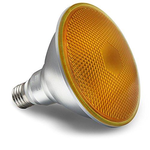 LED 15W Bernstein PAR38Outdoor Reflektor Leuchtmittel Super Hell Lange Lebensdauer (Outdoor-flut-licht Led Par38)