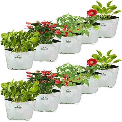 Trust Basket Poly Grow Bags UV Stabilized -10 Qty [20cms(L)X20cms(W)X35cms(H)]