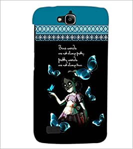PrintDhaba Quote D-4098 Back Case Cover for HUAWEI HONOR HOLLY (Multi-Coloured)