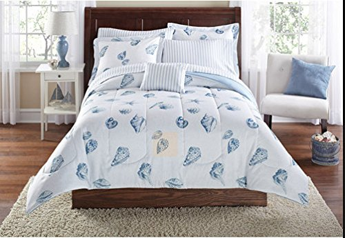 Muscheln, strand Motto, nautisches Twin Tröster Set (6Stück Bett in einer Tasche) (6 Stück Tröster)