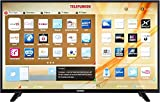 Telefunken LED-TV 127 cm 50 Zoll A50U445A EEK A+ DVB-T2, DVB-C, DVB-S, UHD, Smart TV, WLAN, CI+ Sch