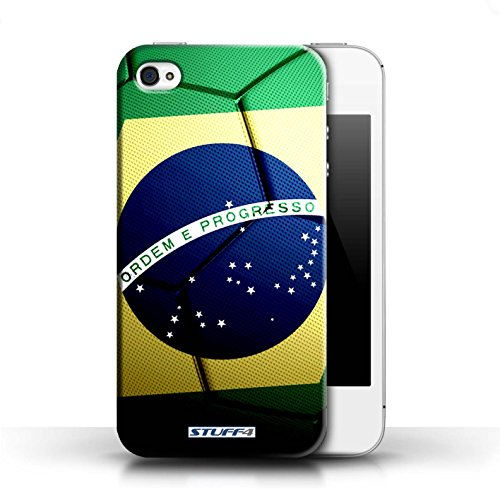 Kobalt® Imprimé Etui / Coque pour Apple iPhone 4/4S / Portugal conception / Série Nations de Football Brésil/Brésilien