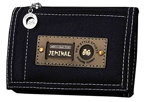 qishi-yuhua-jml-mens-korean-short-paragraph-3-fold-canvas-purse-black-canvas-wallets
