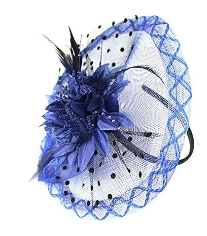 Boutique Fleur Bleu roi disque Serre-tête Accessoires Cheveux Bibi