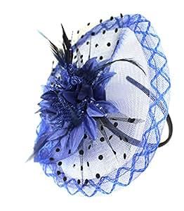 Boutique Fleur Bleu roi disque Serre-tête Accessoires Cheveux Bibi mariage