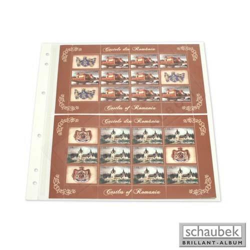 Schaubek Folienblatt SBL - 2 Streifen, 255 mm x 143 mm (Packung 5 Blatt) FO-SBL06/5