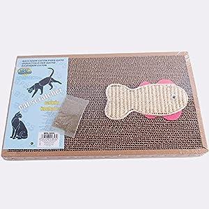 BPS2x Rascador Gatos Rascador de Cart/ón Juguetes Gatos Accesorio Ideal para que se Afile las U/ñas 13X38 BPS-1852