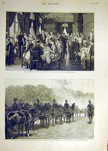 Königliche Artillerie 1893 KaiserInstitut-Gefährten Pferde