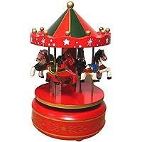 Beetest® Classic Giostra Carillon con il Castello nel Cielo Melodia / Carosello Musicali Scatola Box Bambini Natale Vacanza Giocattoli Compleanno Regalo, Tipo D