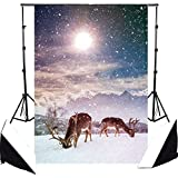 5x7 Ft White Accumulated Snow Christmas Style Christmas Photography Backdrop Photo Background