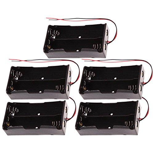 ZREAL zrealscatola von Haltbare Kunststoff-des-der Kasse von Batterie 5pcs/set für die Akkus 18650 2 Section