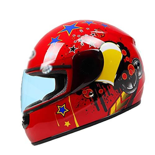 LHY Kinder Helm Muster Fahrradhelm Rollschuh Integralhelm Für Jungen Und Mädchen Für Outdoor Sportarten,Rot