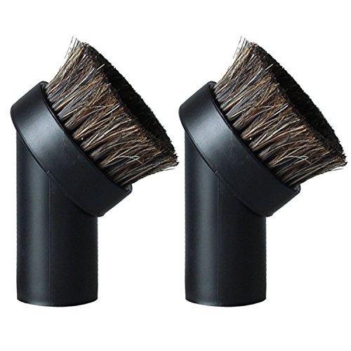 2 piezas de repuesto universal para cepillo de pelo de caballo redondo con boquilla para aspiradora y limpiador de polvo 32 mm