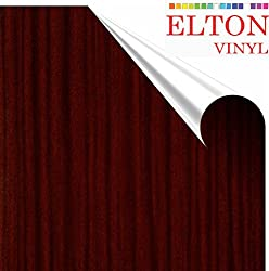 ELTON Cherry Wood Grain Oak Adhesive Decorative Vinyl Shelf Liner 12 X 48 Inches