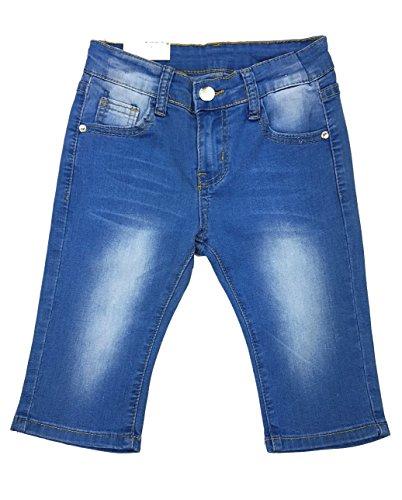 Girls Fashion Mädchen Stretch Jeans Capri, Sommerhose, Gr. 146/152, Mn7832.12 (Capri-jeans Mädchen)