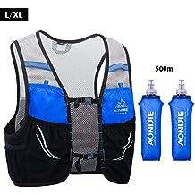 UTOBEST Ultra Running Chaleco de Piel Avanzada 2.5 Set Ligero hidratación Pack para Trail Running,